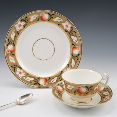 Swansea Porcelain London Shape Tea Cup and Saucer With Tea Plate 1815-20