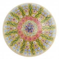 Rare Perthshire 13 Spoke Radial  3 row Concentric Millefiori PP1 Paperweight Pre 1978