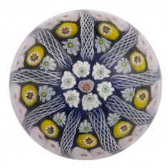 A Strathearn Nine Spoke Radial Paperweight c1970