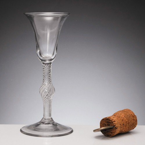 Multi-Series Air Twist Stem Georgian Wine Glass c1750
