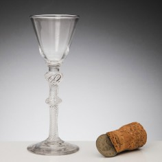 Composite Stem Georgian Wine Glass c1750
