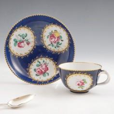 A Doccia Porcelain Tea Cup and Saucer c1750