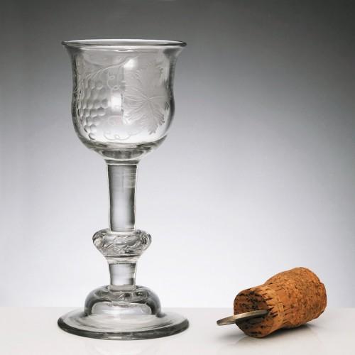 18th Century Baluster Wine Glass c1730