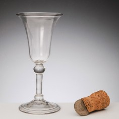 Balustroid Stem Georgian Wine Glass c1745