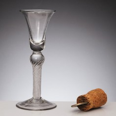 Georgian Composite Stem Wine Glass c1750