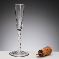 Opaque Twist Ratafia Glass c1760