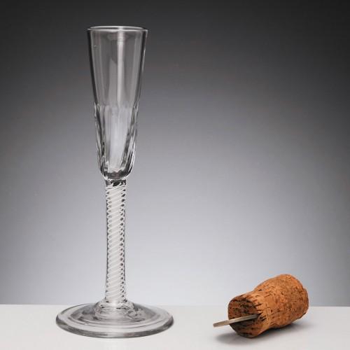 Opaque Twist Ratafia Glass c1760