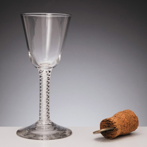 Double Series Opaque Twist Georgian Wine Glass c1800