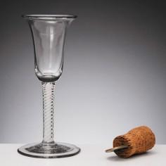 Double SeriesOpaque Twist Georgian Wine Glass c1760