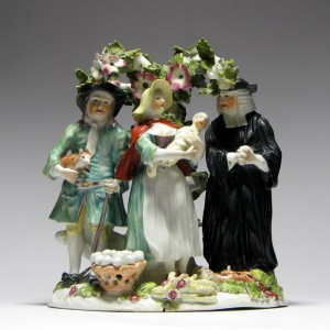 Derby Porcelain The Tithe Pig Group c1765