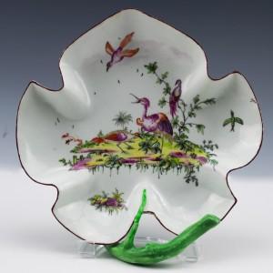 Longton Hall Leaf Dish c1760