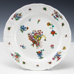 "Meissen ""Yellow Lion"" Plate c1740"