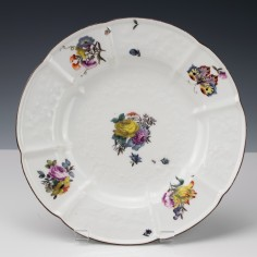 Meissen Floral Pattern Plate Gotzkowsky Moulding 1745-50