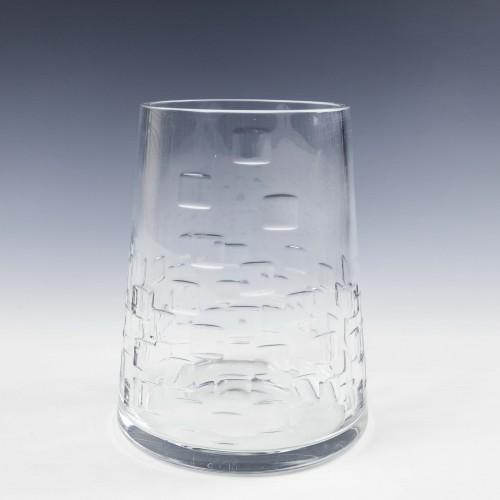 John Luxton Stuart Crystal vase c1965