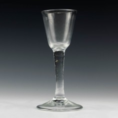 Plain Stem Georgian Wine Glass c1745