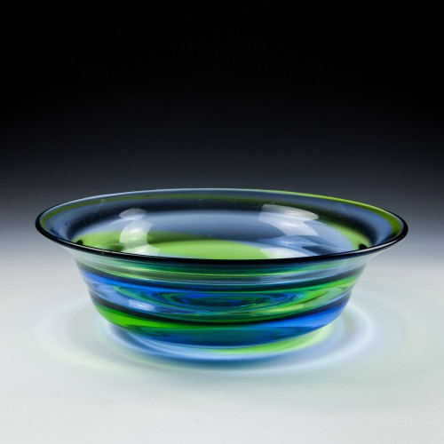 Stevens And Williams Rainbow Glass Bowl c1940