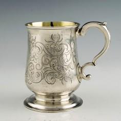 Georgian Silver Half Pint Tankard 1757-1758