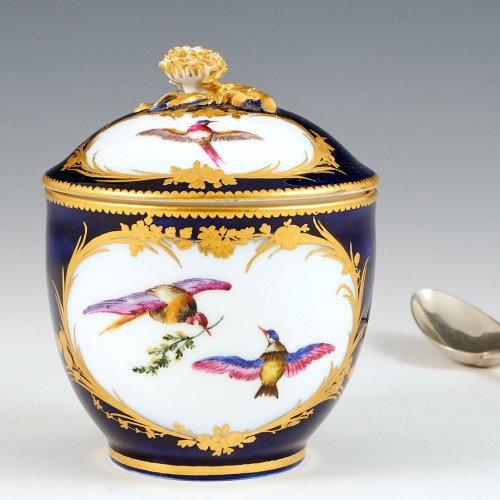 Vincennes Sevres Sugar Bowl and Cover (Pot a Sucre) 1755