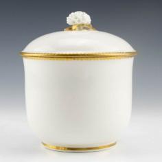 Vincennes Sevres Blanc de Chine Pot a Sucre c1750