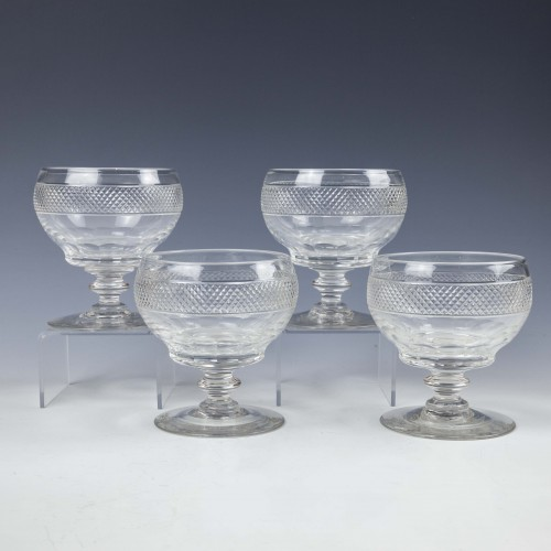Four Anglo-Irish Cut Glass Rummers c1830