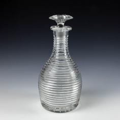 A Regency Style Prism Cut Magnum Crystal Decanter c1930