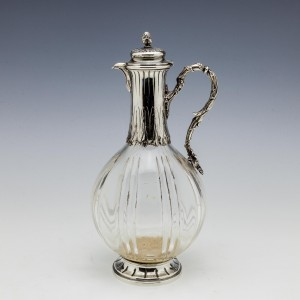 Silver Mounted Spirit Decanter For Tiffany and Co By Vaguet Paris 1890