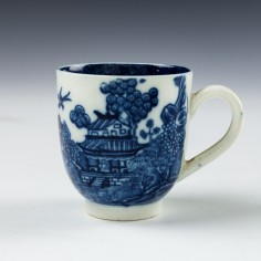 A Caughley Porcelain Willow Nanking Pattern Coffee Cup c1790 Was £45