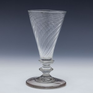 Wrythened Ale glass c1810