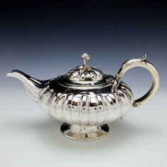 George IV  Sterling Silver Teapot London 1827