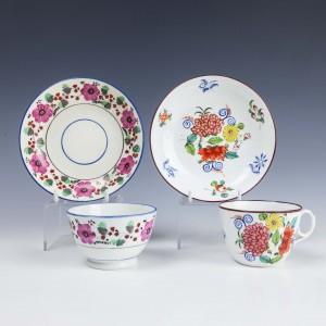 Machin Teacup Teabowl and Saucers c1815
