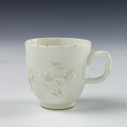 A Bow Blanc de Chine Coffee Cup c1760