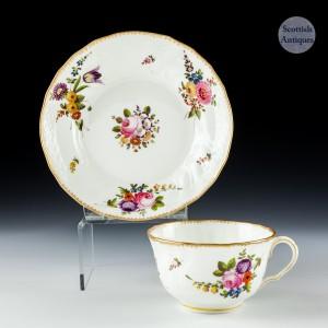 Swansea Porcelain Teacup And Saucer c1820