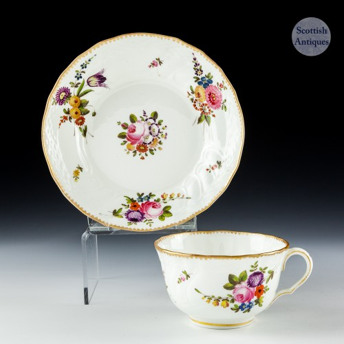 Swansea Porcelain Teacup And Saucer c1820