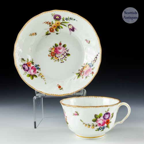 A Swansea Porcelain Teacup And Saucer c1820