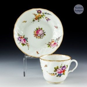 Swansea Porcelain Coffee Cup And Saucer c1820