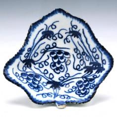 Bow Blue & White Pickle Dish c1775