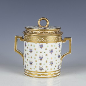 Derby Porcelain Chocolate Cup and Cover c1790