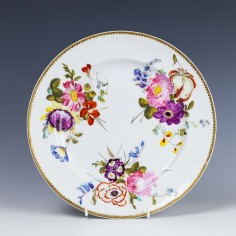 Large Derby Porcelain Plate c1825