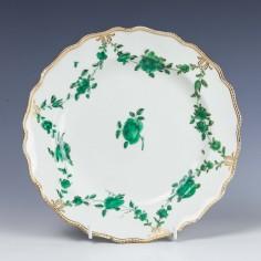 Chelsea Soft Paste Porcelain Plate Gold Anchor Mark c1769