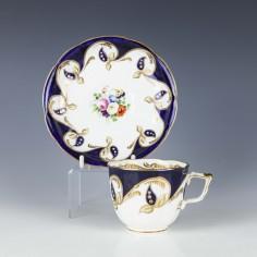 Samuel Alcock Porcelain Tea Cup And Saucer c1840