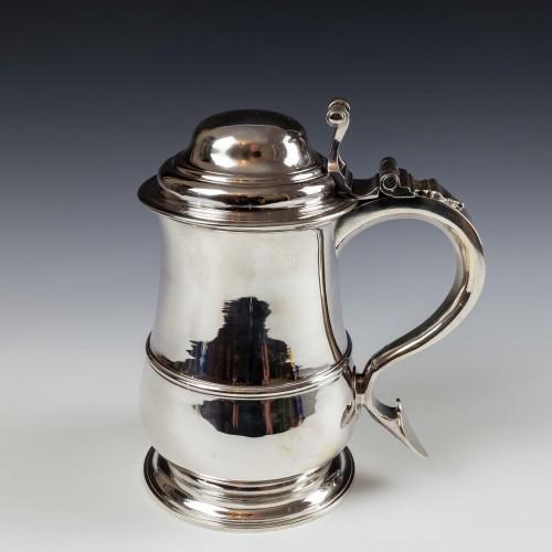 Very Fine Georgian Sterling Silver Tankard By Thomas Mason London 1744