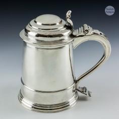 Sterling Silver Queen Anne Pint Tankard c1705