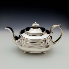 George IV Sterling Silver Teapot Exeter 1824