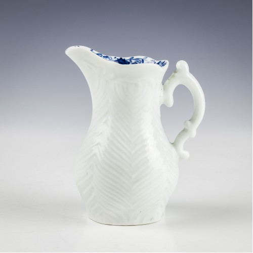 Early Worcester Feather Moulded Jug c1758