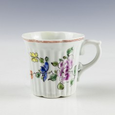 First Period Worcester Porcelain Coffee Cup c1755