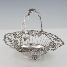Georgian Silver Swing Handle Basket  London 1768