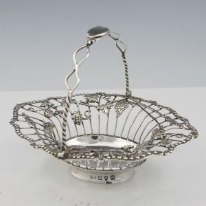 Georgian Sterling Silver Wire Work Basket London 1768