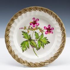 Derby Porcelain Pattern 115 Botanical Dessert Plate c1795