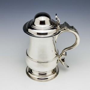 Sterling Silver Quart Domed Tankard London 1774