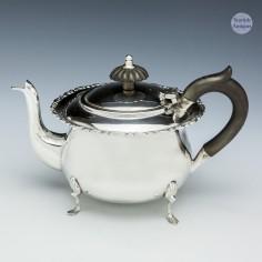 Sterling Silver Bachelors Teapot Sheffield 1904